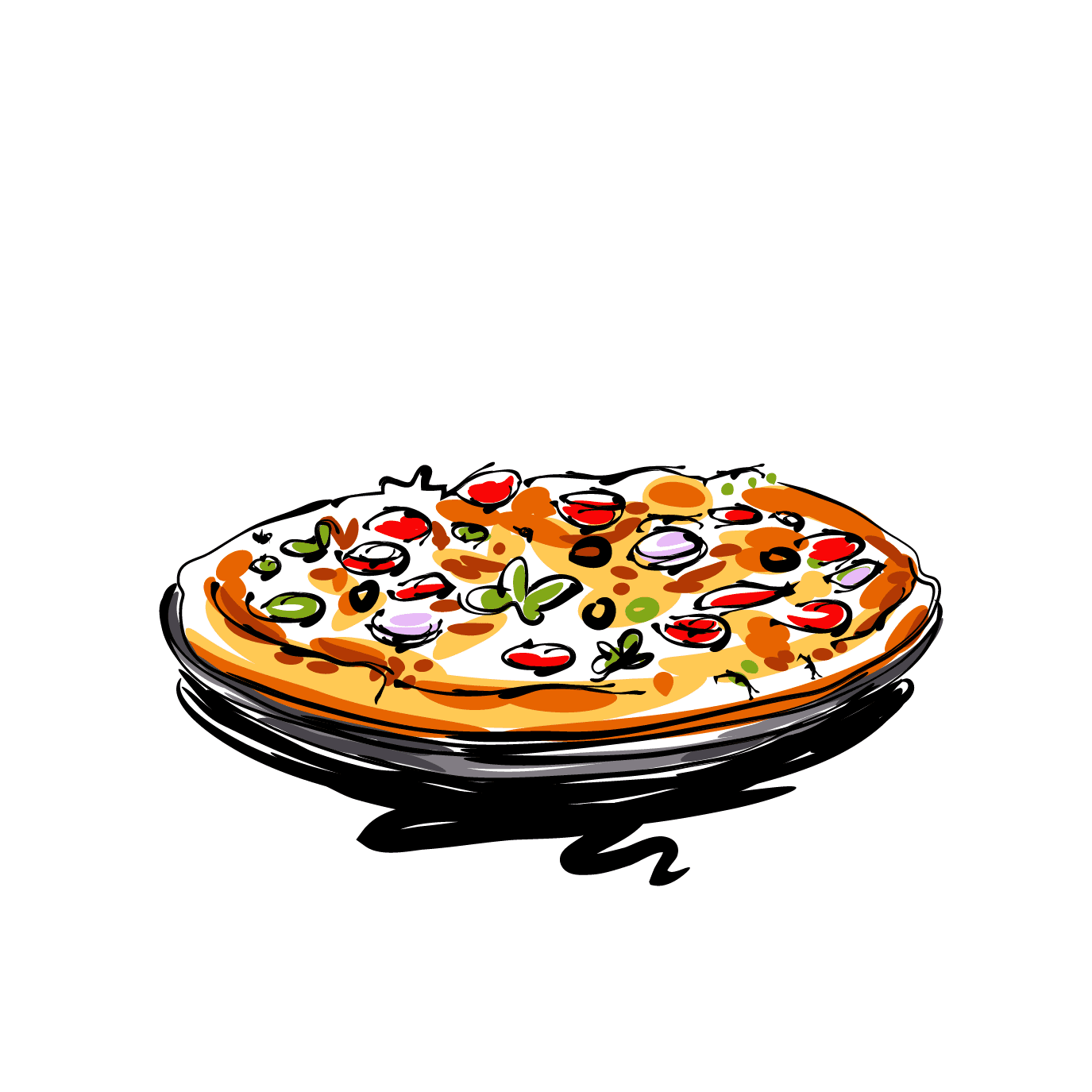 grab a famous thin crust pizza from pizza king